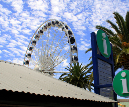 Cape Town, South Africa - December 17, 2010: Big Ferris Wheel at the Victoria and Alfred Waterfront.
