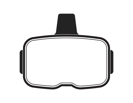VR headset with blank visor for custom modifications Stock Photo