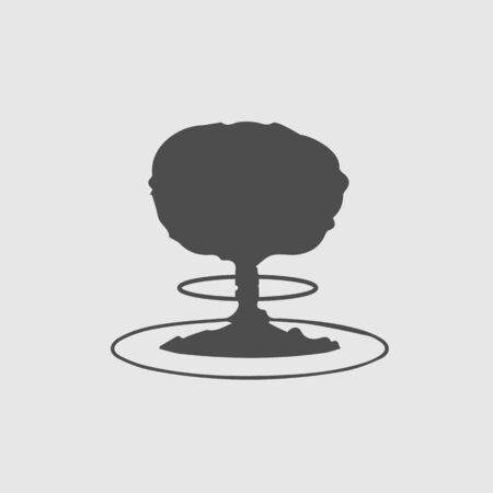 Mushroom cloud nuclear explosion vector icon eps 10. War symbol. Illustration