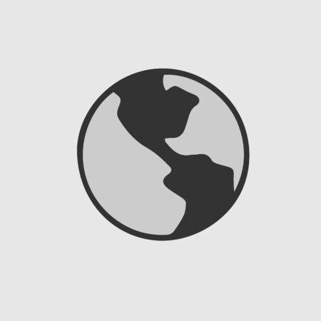 Globe vector icon eps 10. Earth illustration.