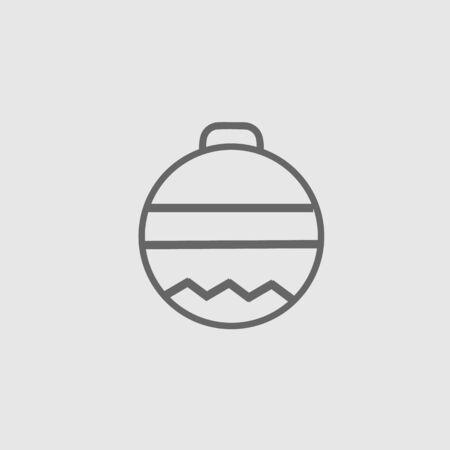 Christmas ball vector icon eps 10. Xmas decoration simple isolated illustration. Illustration