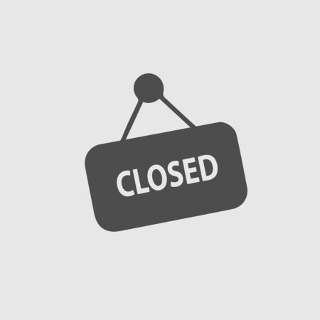 Closed sign text vector icon eps 10.