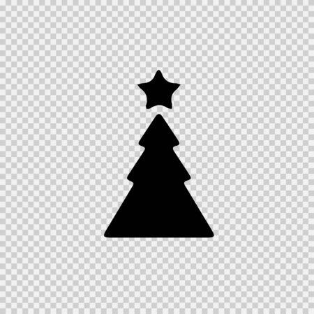 Christmas tree and star vector icon eps 10.