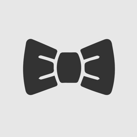 Bow tie vector icon eps 10. Bowtite simple isolated pictogram.