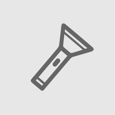 Torch icon vector icon. Flashlight simple isolated pictogram.
