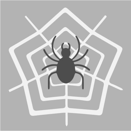 Spider icon. Black and white simple isolated illustration. Halloween symbol.
