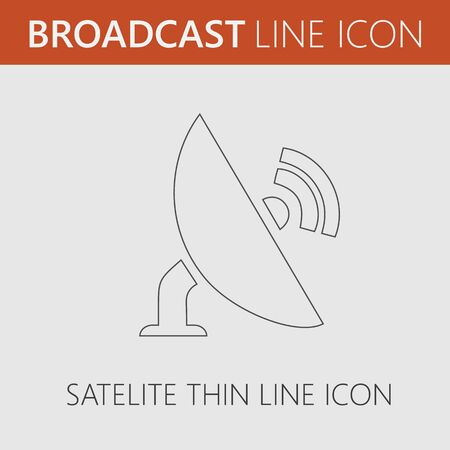 Satellite tv vector icon. Simple isolated vector EPS 10.
