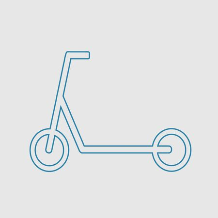 Kick scooter vector icon. Simple isolated pictogram.