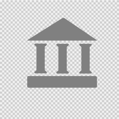 Greek ancient temple vector icon.