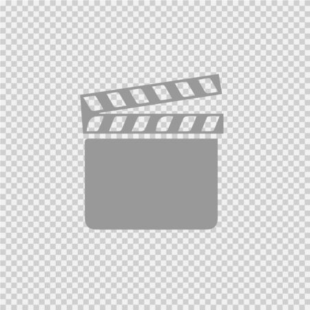 Film flap vector icon.