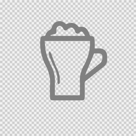 Beer mug vector icon.