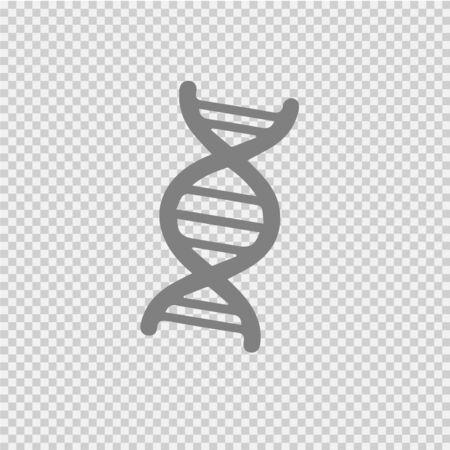 Dna vector icon. Genetic symbol illustration.