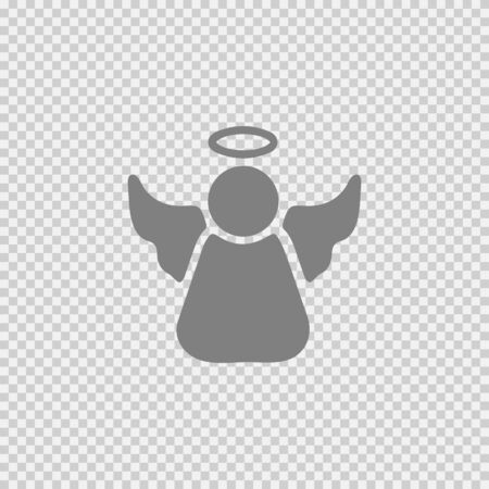 Angel vector icon. Simple isolated illustration.