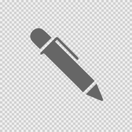Pen vector icon . Simple isolated illustration.