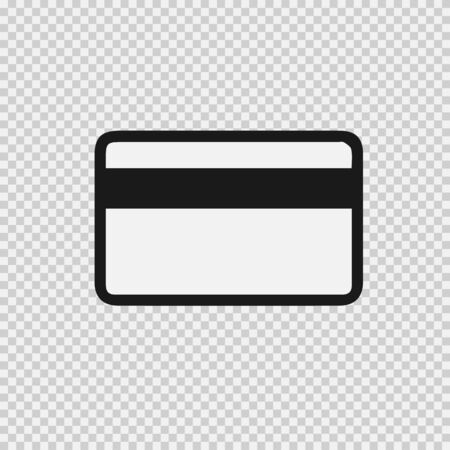 Credit card vector icon eps 10. Simple isolated pictogram.