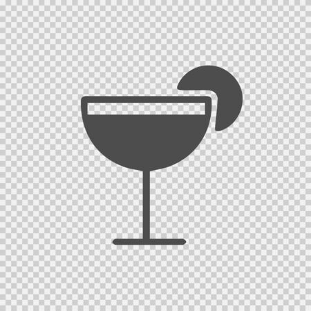Drink vector icon . Party cocktail simple isolated pictogram.