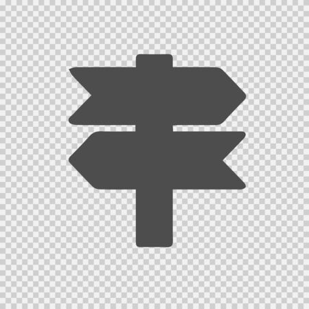 Signboard vector icon eps 10. Direction sign simple isolated pictogram.