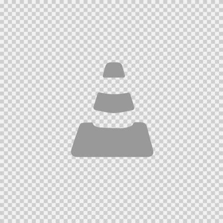 Cone vector icon eps 10. Simple isolated pictogram.