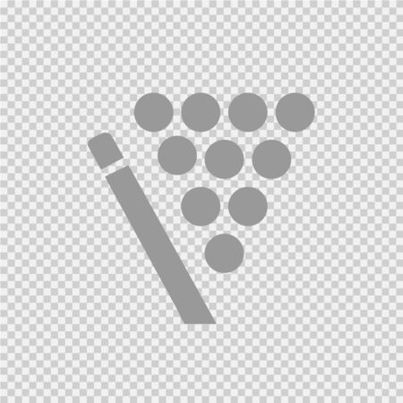 Billiard pool vector icon. Snooker simple isolated pictogram.