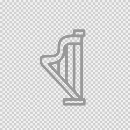 Harp vector icon. Music instrument simple isolated illustration. Vectores