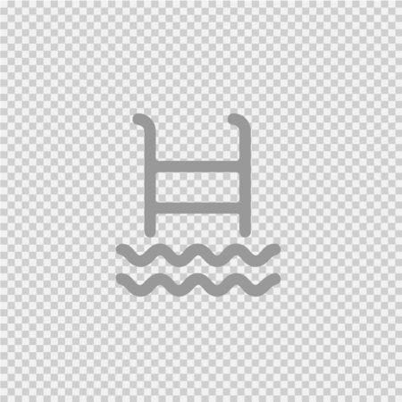 Ladder pool vector icon. Swimming flat line illustration. Simple pictogram.