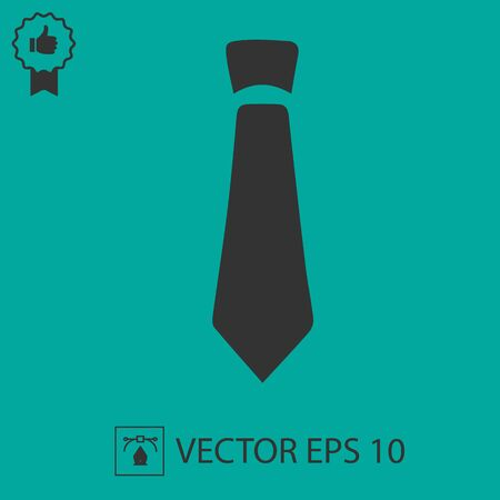 Tie vector icon. Necktie business symbol.