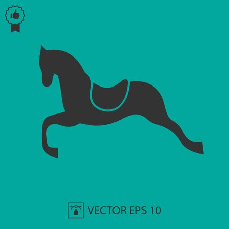 Horse vector icon. Simple isolated illustration.