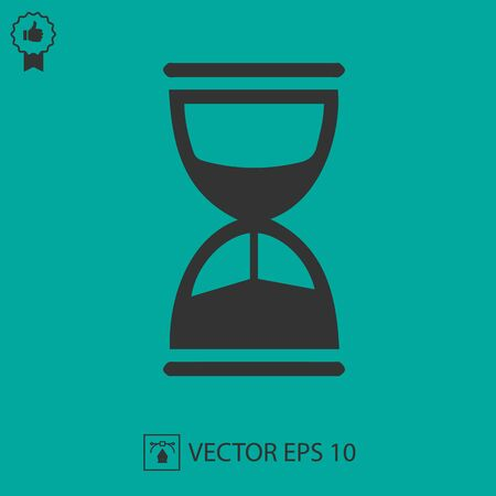 Sand clock vector icon.Isolated vector illustration