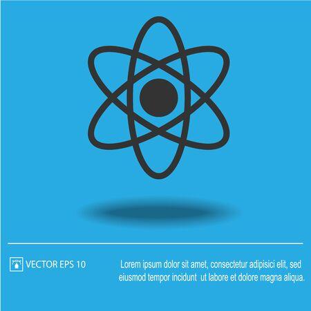 Atom vector icon. Molecule vector illustration EPS 10. Vector Illustration