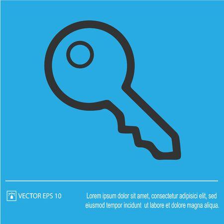 Key vector icon eps 10. Car key simple symbol. Illustration