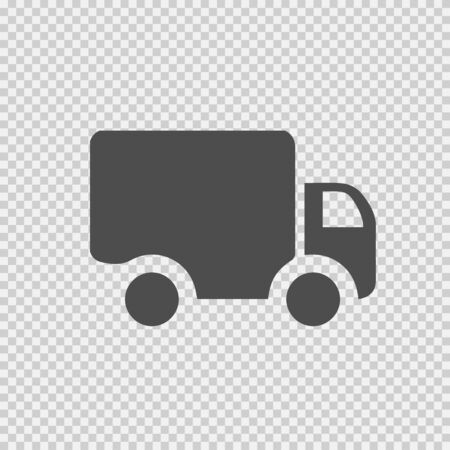 Delivery Truck vector icon EPS 10. Simple isolated silhouette symbol.