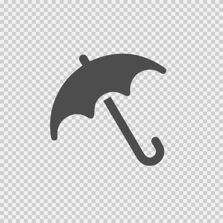 Umbrella vector icon. Weather rain simple silhouette isolated symbol.