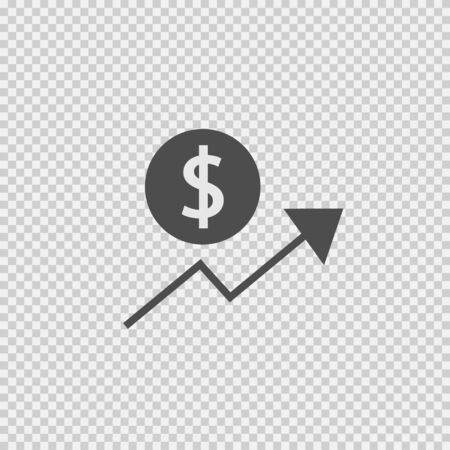 Dollar growth vector icon eps 10.