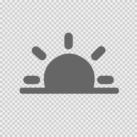 Sunrise or Sunset vector icon  イラスト・ベクター素材