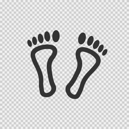 Feet vector icon