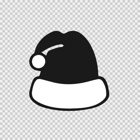Christmas hat vector icon