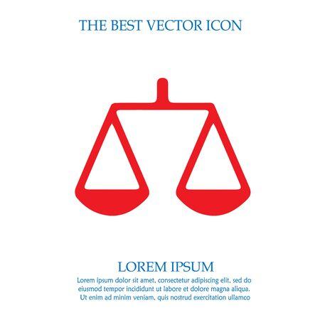 Law symbol vector icon. Weight icon.