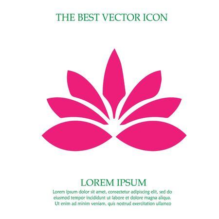Lotus flower vector icon Illustration