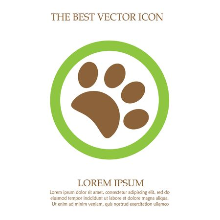 Paw vector icon. Simple isolated footprint logo sign symbol.