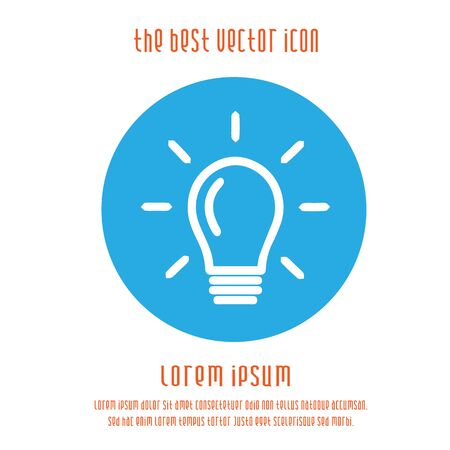 Bulb vector icon. Light symbol. Simple isolated illustration.
