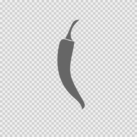 Chilli pepper vector icon. Hot symbol. Vector illustration EPS 10. Ilustração