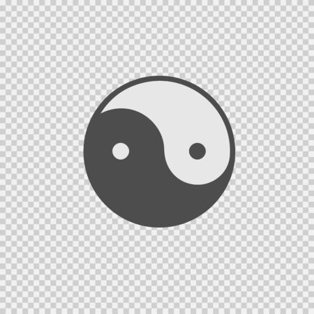 Ying yang symbol vector icon. Vector illustration