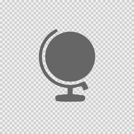 Globe vector icon eps 10. Simple isolated illustration.
