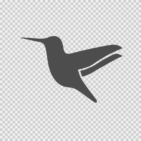 Hummingbird vector icon. Bird symbol. Vector EPS 10.