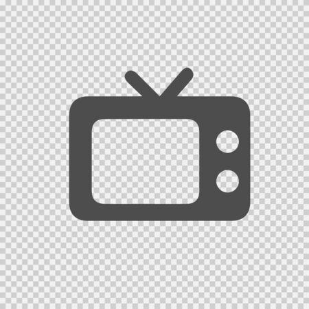 TV vector icon. Old TV symbol. Vector illustration EPS 10.