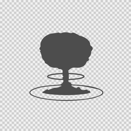 Mushroom cloud nuclear explosion vector icon. War symbol.