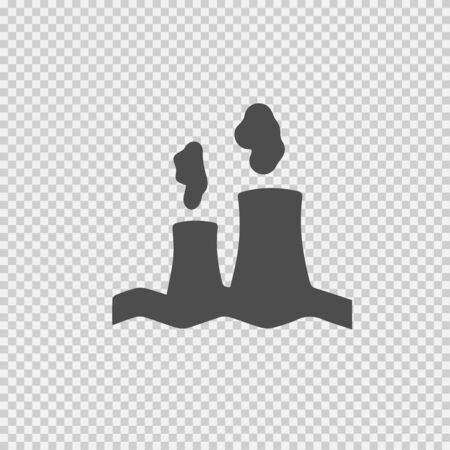 Nuclear power plant vector icon. Factory sign. Industry symbol.