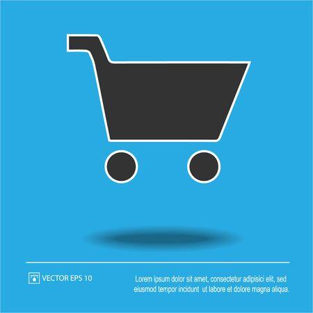 Shopping cart vector icon eps 10.