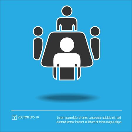 Business meeting simple isolated vector icon eps 10 Иллюстрация