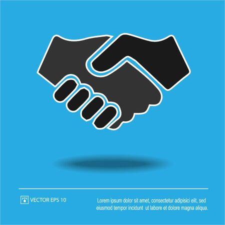 Partnership vector. Handshake icon eps 10. Hands shaking. Businessman deal agreement sign symbol. Иллюстрация